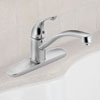 gglv Delta Single Handle Kitchen Faucet Washerless Ball Valve 150-SSWF