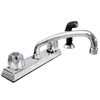 Delta Two Handle Kitchen Faucet Chrome Finish