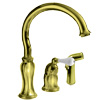 Delta Select (Brizo) Single-Handle Traditional Kitchen Faucet with Sprayer, in Brilliance? Brass Finish