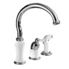 Delta Select (Brizo) Single-Handle Classic Kitchen Faucet with Sprayer, in Polished Chrome Finish